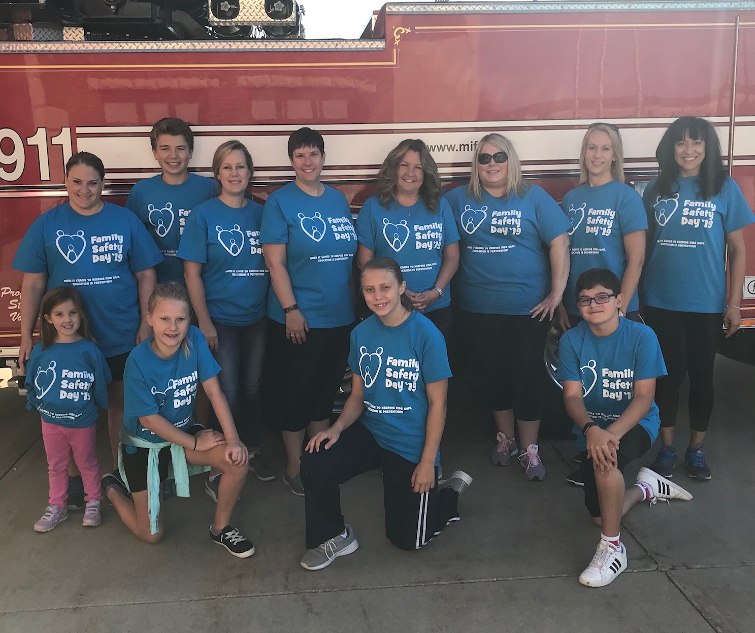 Family Day - a partnership with the local fire department to teach kids and families the importance of safety and having an evacuation plan in the event of an emergency.