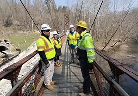 Bloede Dam - Jim-Adam-Kiewit on Bridge.JPG