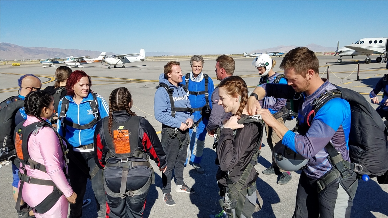 TEAM BUILDING ACTIVITIES ARE REGULARLY SCHEDULED AT ZURIXX. OUR EMPLOYEES RECENTLY EXPERIENCED SKYDIVING TOGETHER!