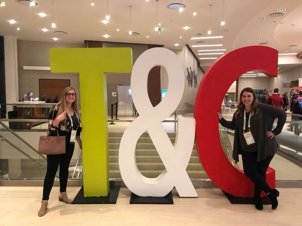 ZURIXX PRIORITIZES OUR EMPLOYEE'S CAREER DEVELOPMENT AND COVERS THE COST ASSOCIATED WITH ATTENDING AND TRAVELING TO CONFERENCES OR TRAINING. HERE ARE TWO OF OUR MARKETING TEAM MEMBERS AT THE 2019 TRAFFIC AND CONVERSION SUMMIT!