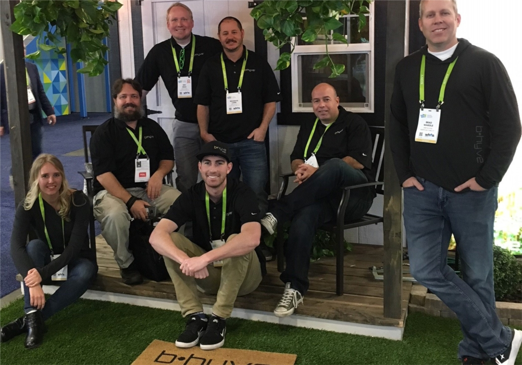 Orbit's team at the Consumer Electronics Show.