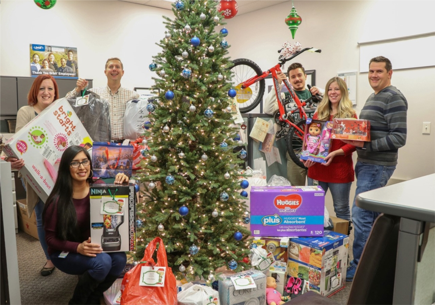 Orbit associates become Santa's Elves as we give generously to our own associates who find themselves in need during the Christmas season.