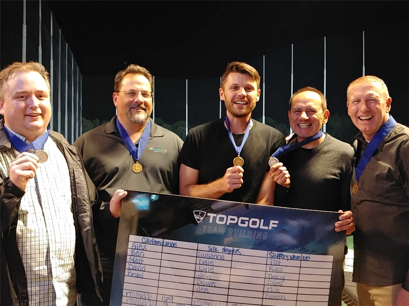 Manager's outing at Top Golf