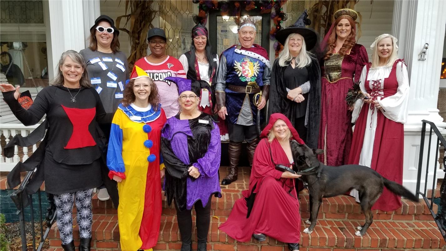 The Marietta, GA team dressed up for Halloween