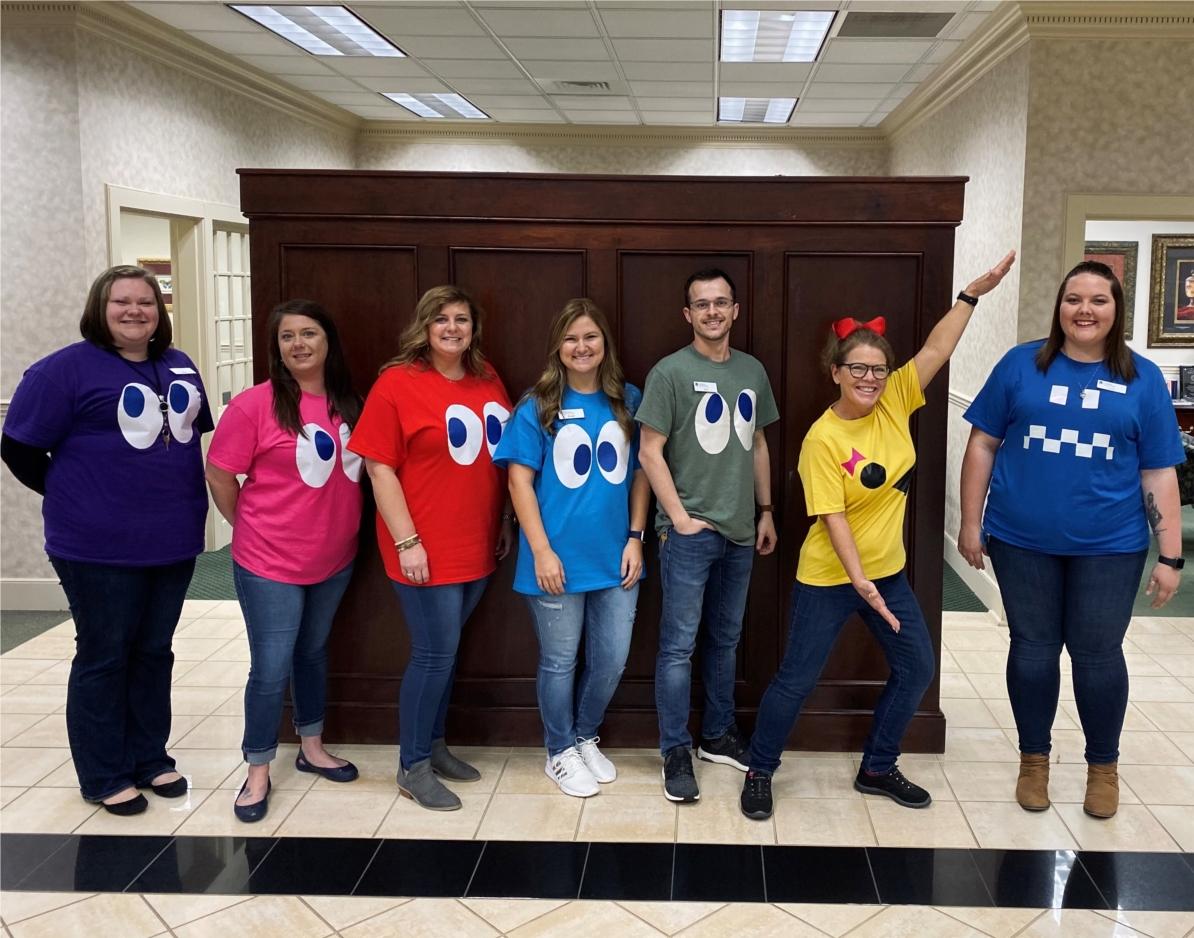 The Covington, GA team dressed up for Halloween.