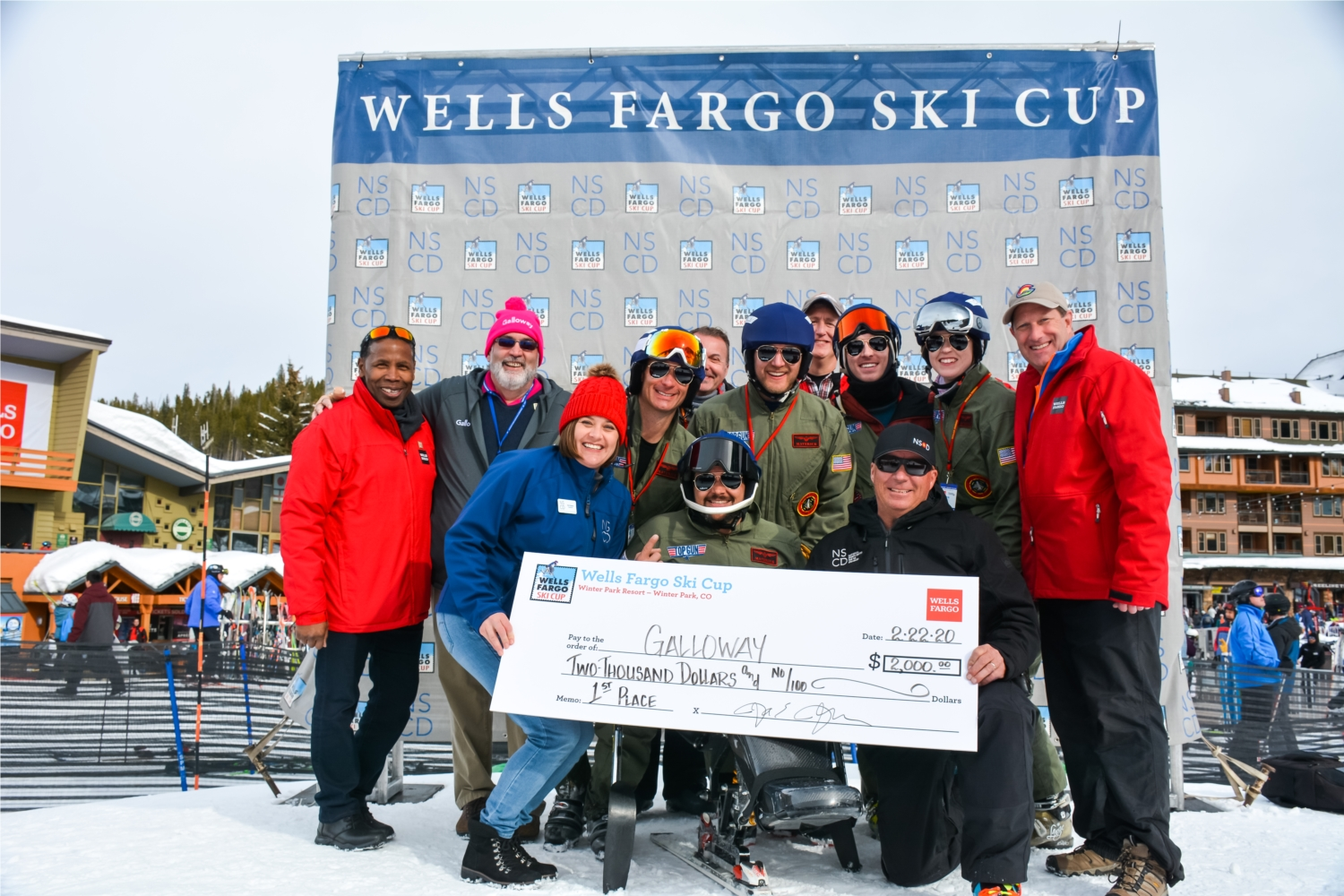Galloway proudly sponsors and participates in the Wells Fargo Ski Cup each year, which is the National Center for Disabled Sports' largest annual fundraiser.