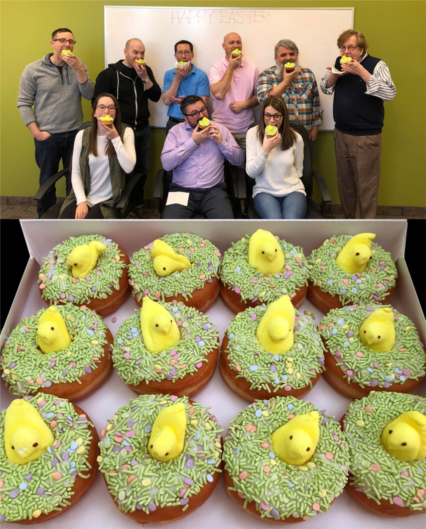 MSM's creative team enjoys a sweet treat before a collaborative brainstorm session.