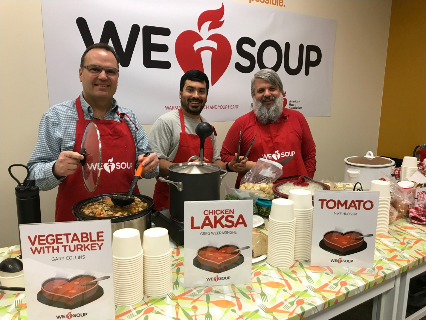 """MSM raised money for the American Heart Association through a """"SOUP-er"""" Bowl fundraiser."""