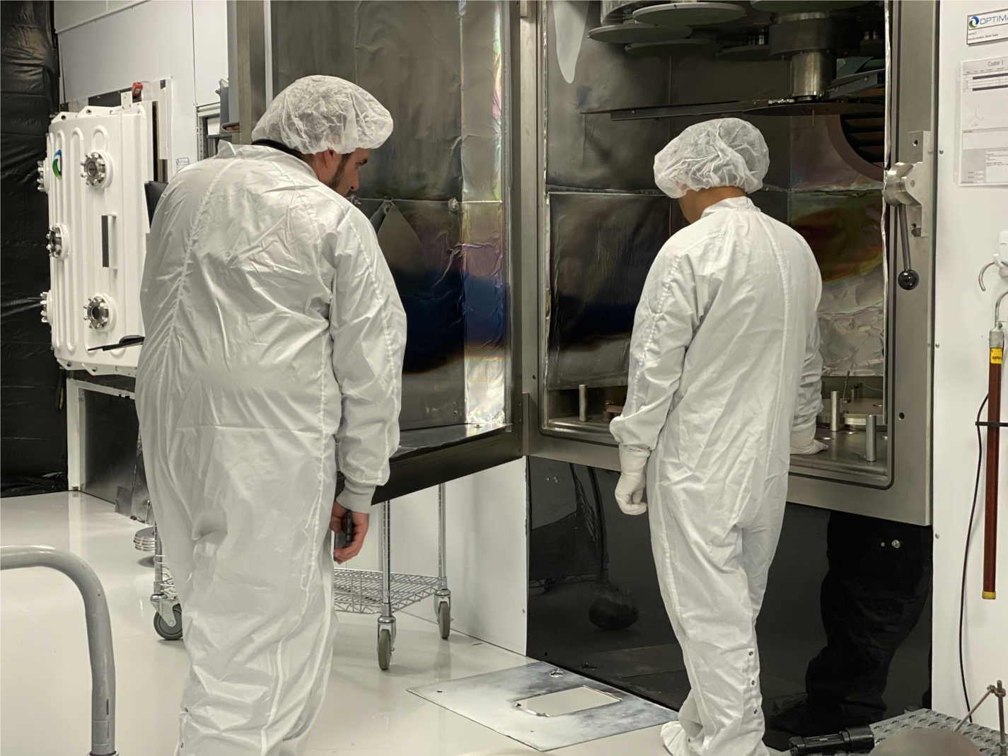Growing each year, our optical coating facility continues to expand in both technology and space.