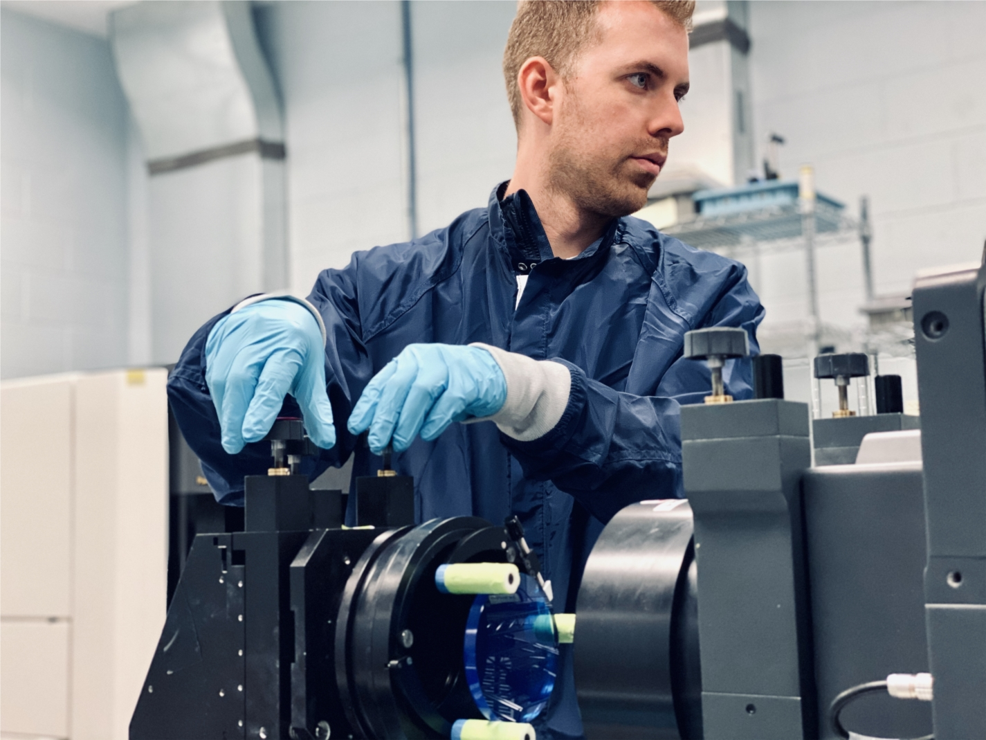 Measuring high-precision optics is a key component of optics manufacturing, as pictured here in one of Optimax's Metrology labs.