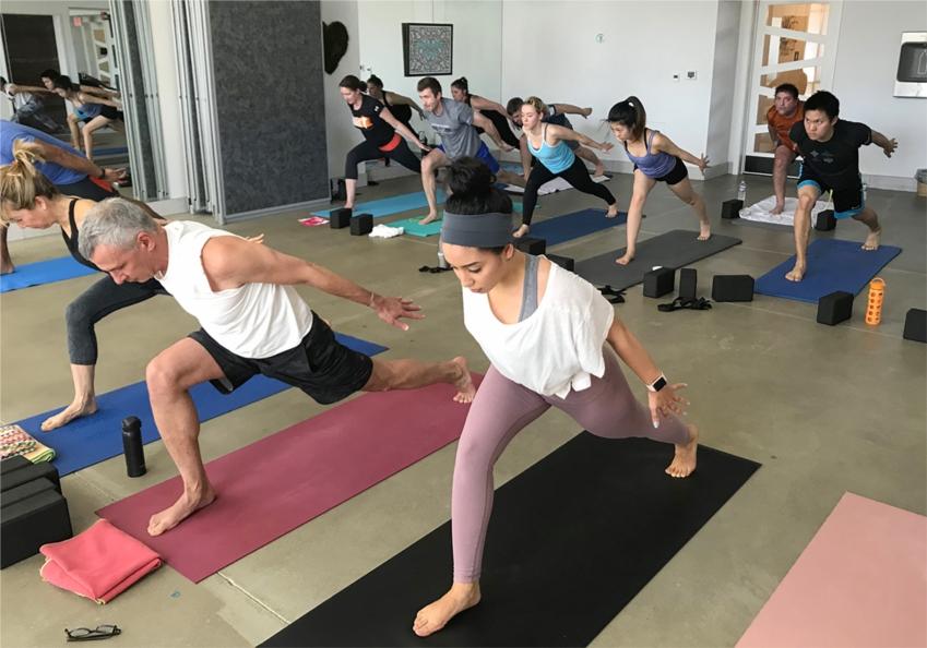 SIG pop-up yoga class at Bulldog Yoga.
