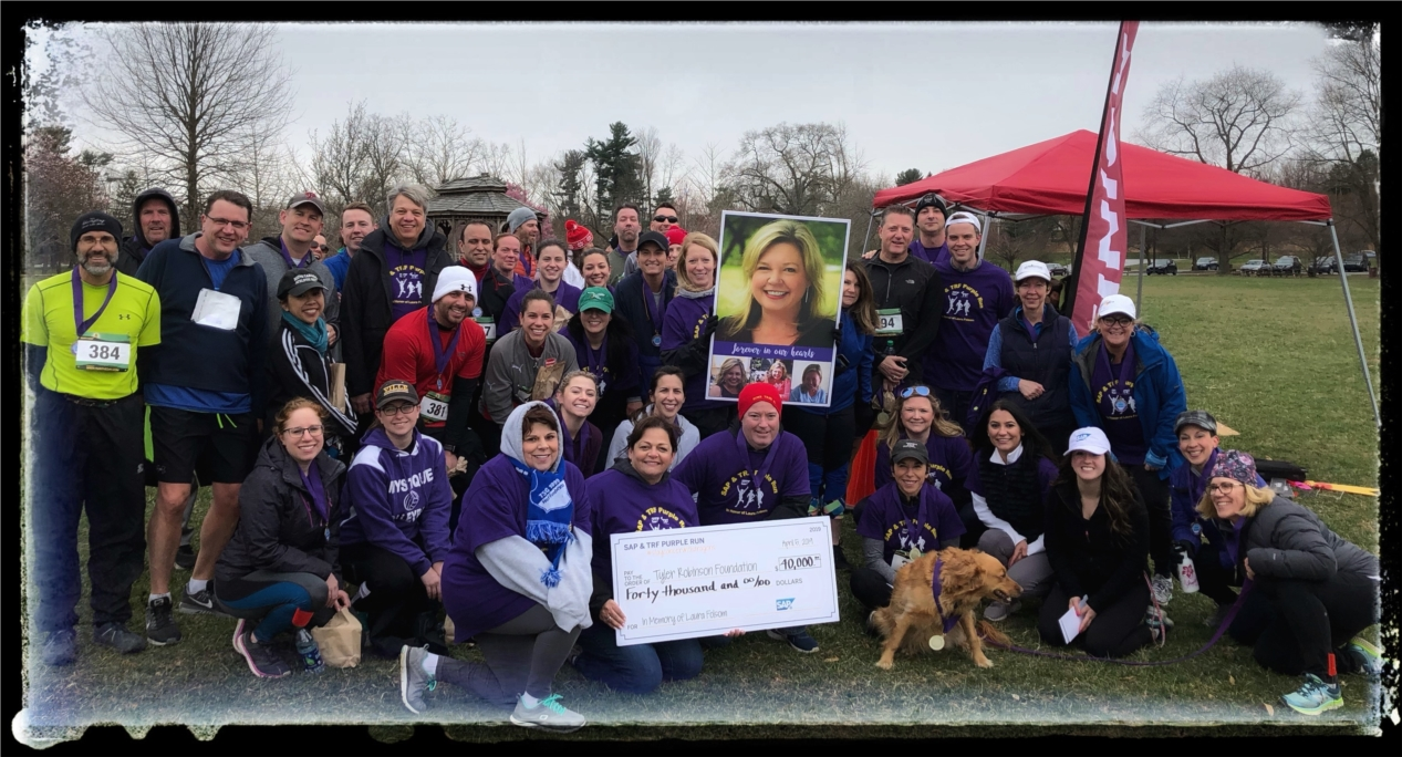 SAP employees come together to honor a colleague and support a worthy cause.
