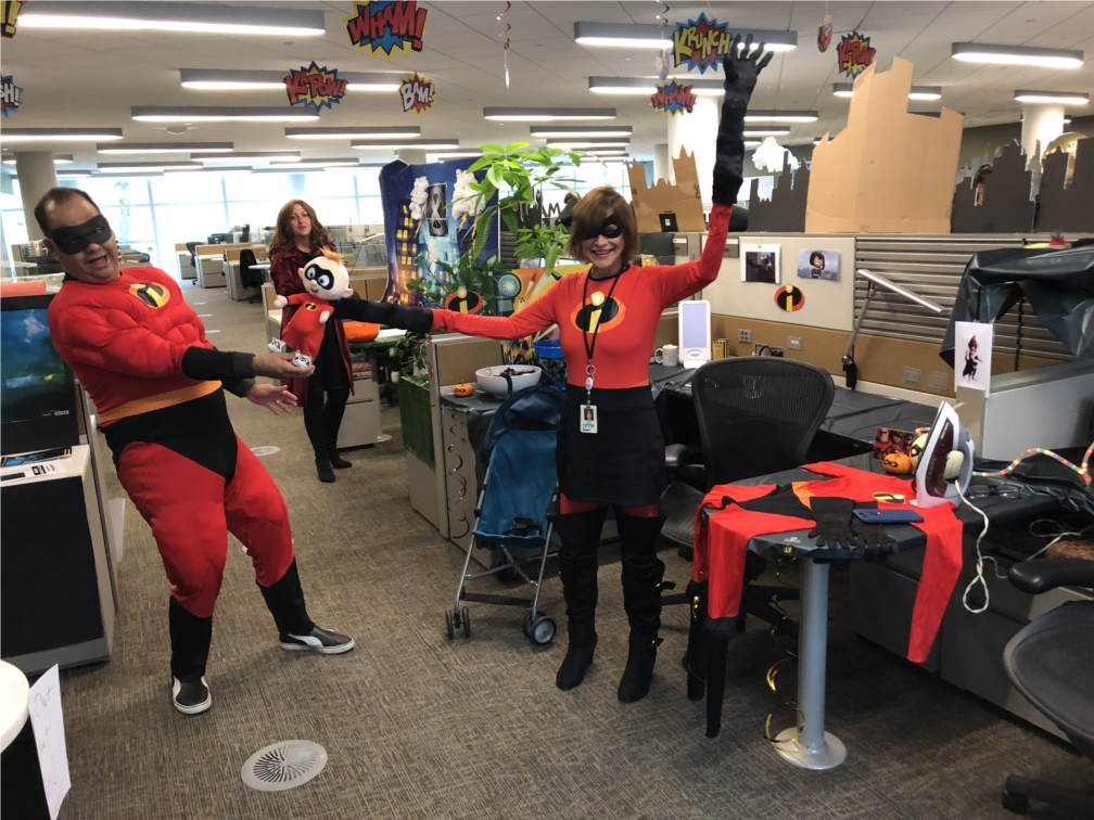 We work hard but know how to have some fun too. This group of SAP colleagues takes a break for some Halloween fun!