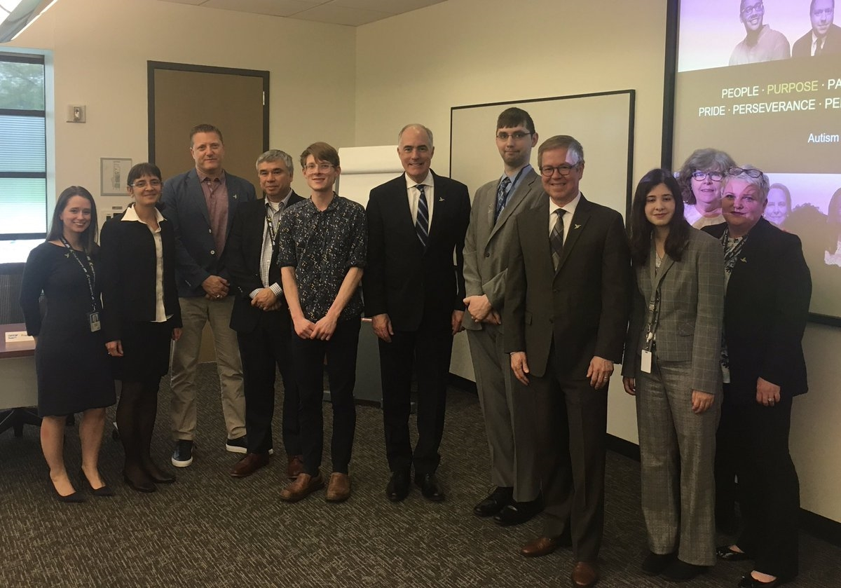 PA State Senator, Robert Casey, visits SAP to meet with employees who are members of SAP's Autism at Work program.