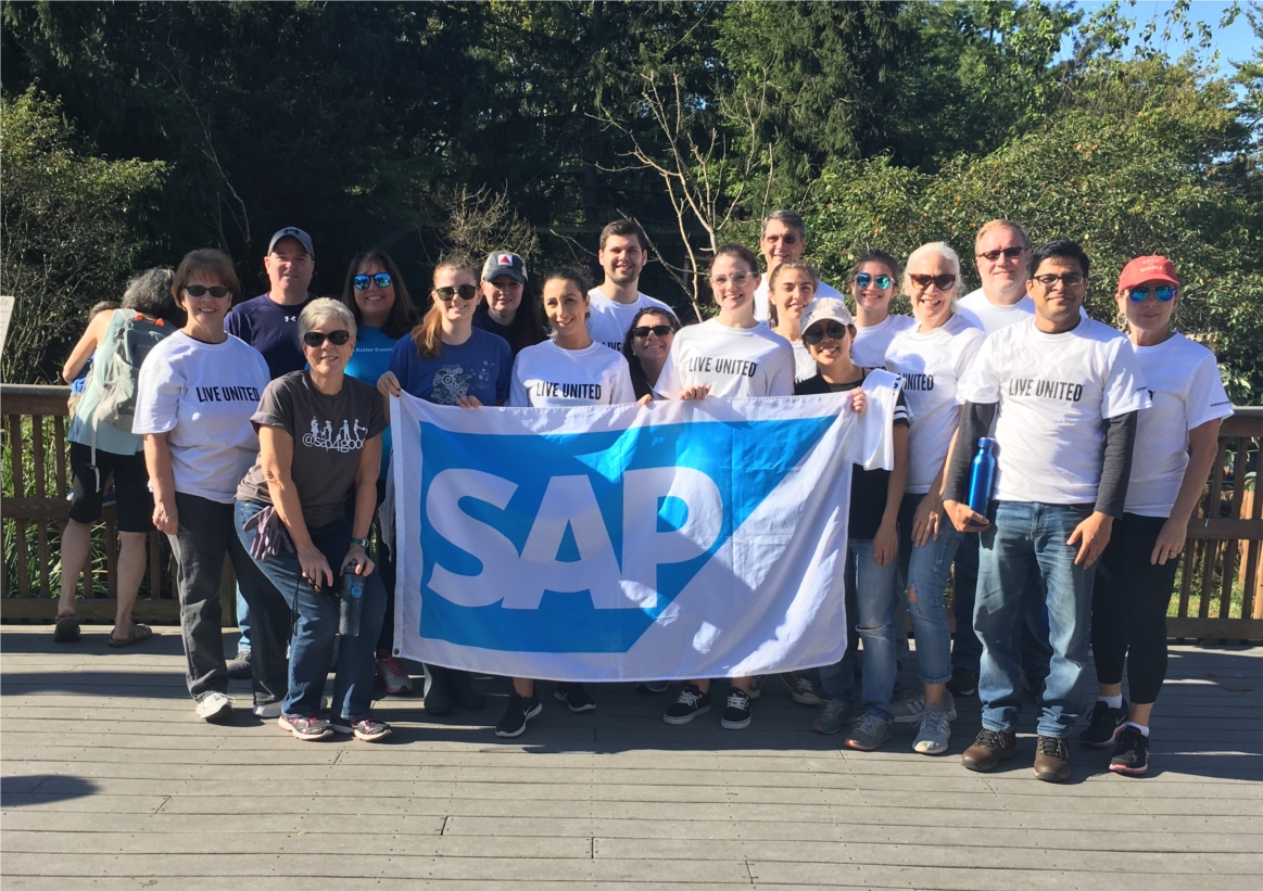 SAP's annual Month of Service provides hundreds of opportunities for employees to give back to their communities. This group spent the day at Elmwood Park Zoo in Norristown, PA.