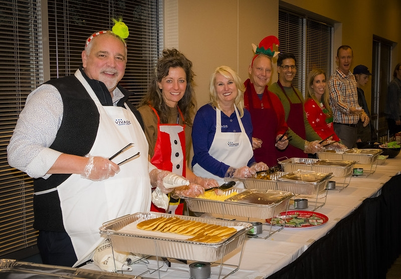 Volunteers helping out at the Resident Holiday Party!