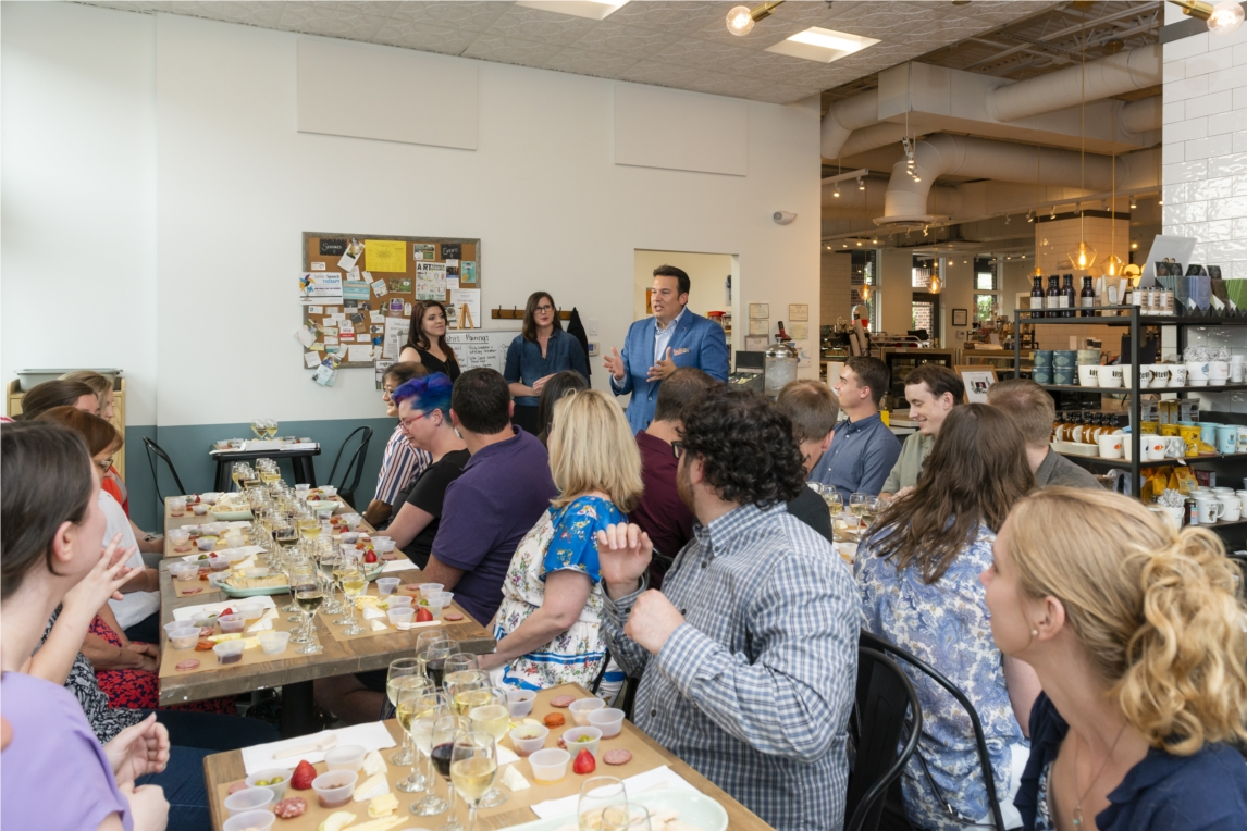 Wine & cheese education class