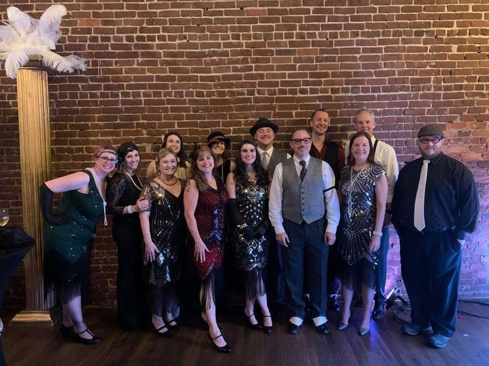 Gatsby-themed Christmas party 2019