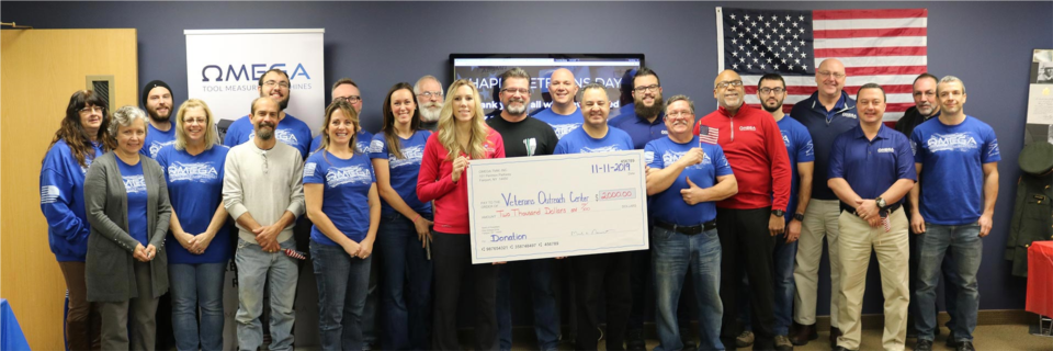Omega TMM Employees Raise $2000 for the Veterans Outreach Center in Rochester, NY!
