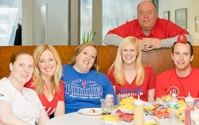 Employees celebrated the start of another Phillies season.