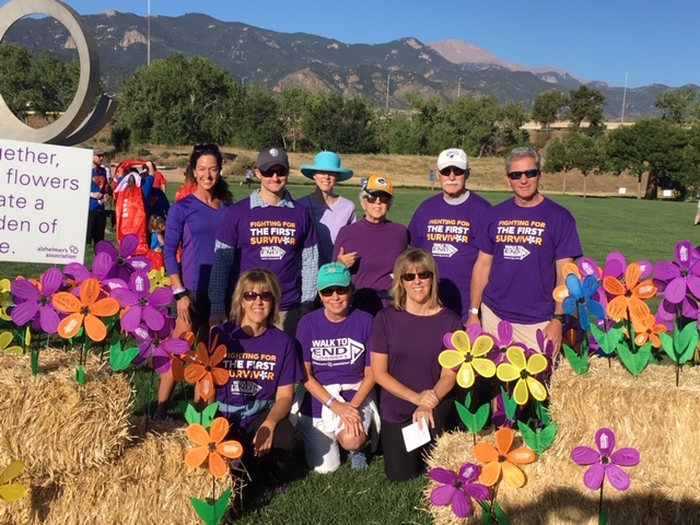 One of the 41 teams across Colorado participating in the Walk to End Alzheimer's; this one from Colorado Springs.