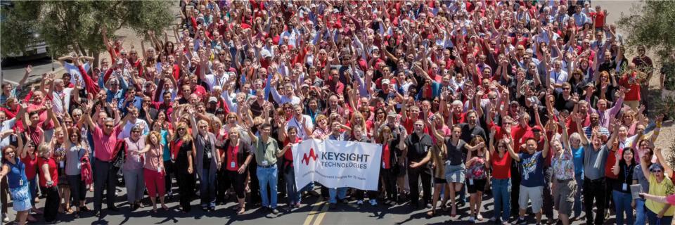 Large group of Keysight employees