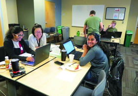 Keysight employees participate in a Hack-a-thon