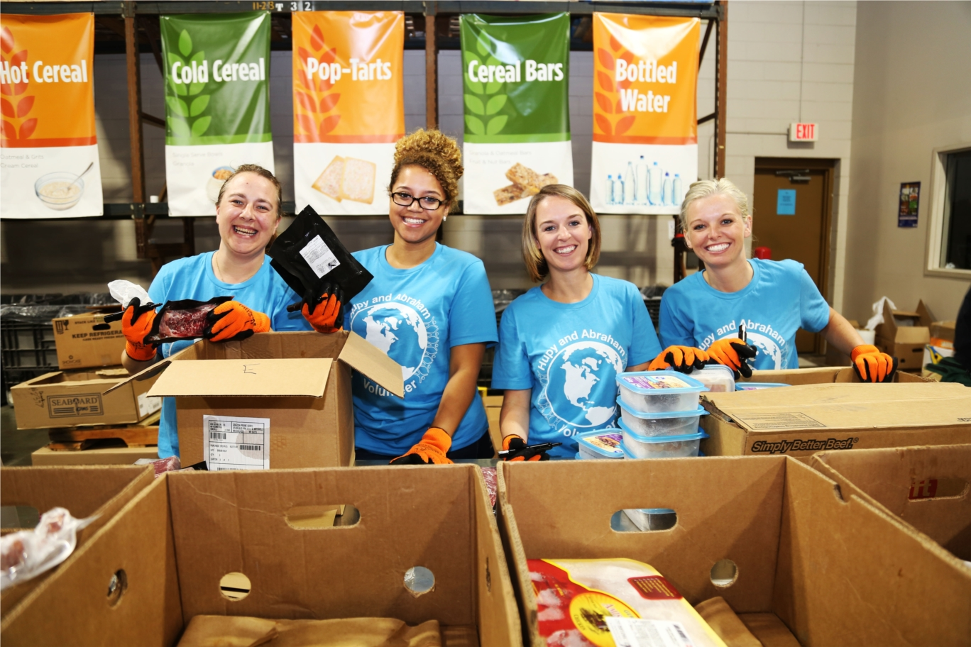 Hupy and Abraham Feeding America Volunteer Group