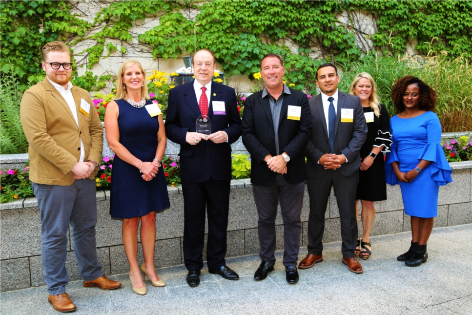 Hupy and Abraham employees at Diversity in Business Awards ceremony.