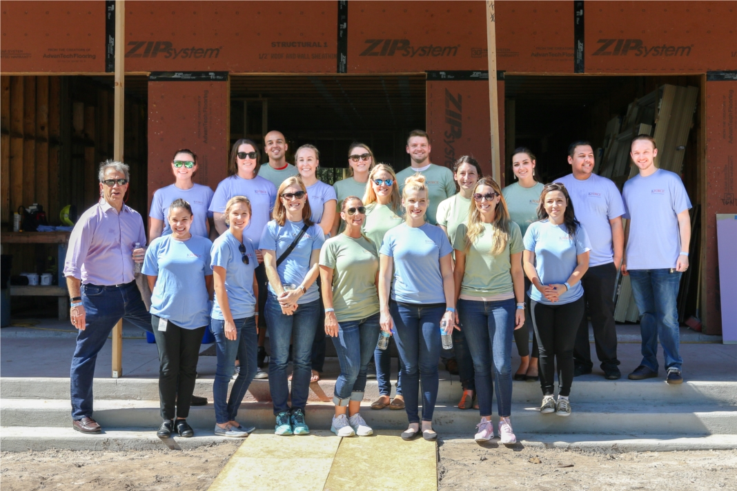 Kforce sponsored and help build a new cottage for children to enjoy at Hope Children's Home in Tampa Bay.
