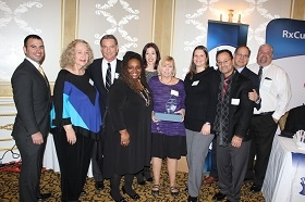 The team from Center For Family Services receiving the Nonprofit of the Year award.