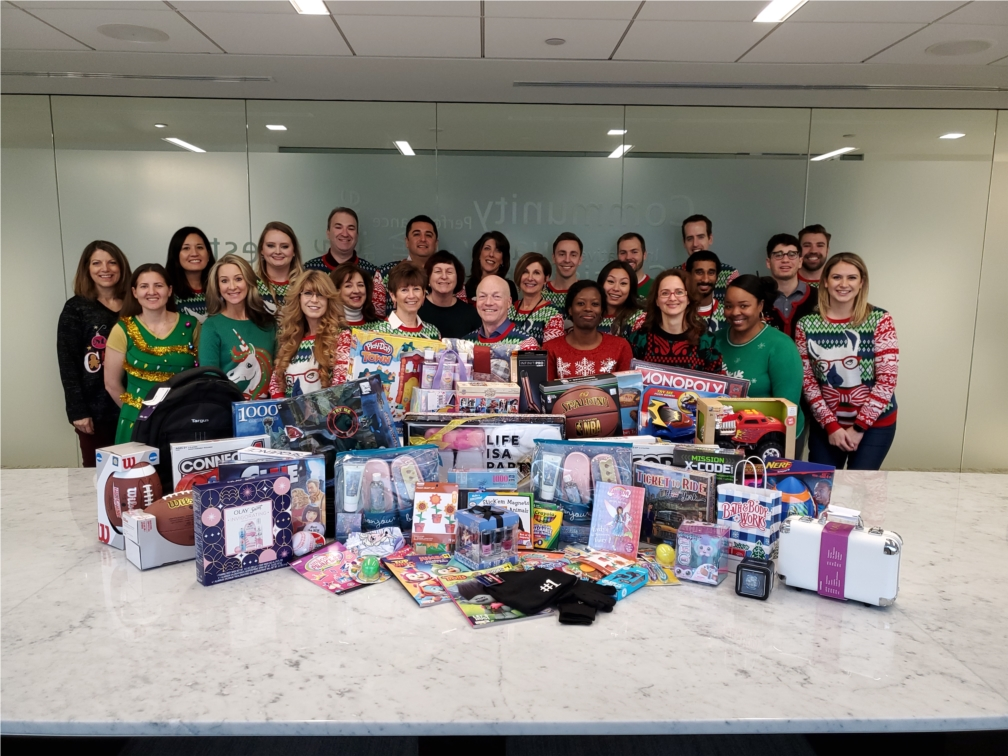 Employees participated in Toys for Tots.  Over 3,000 toys were collected.