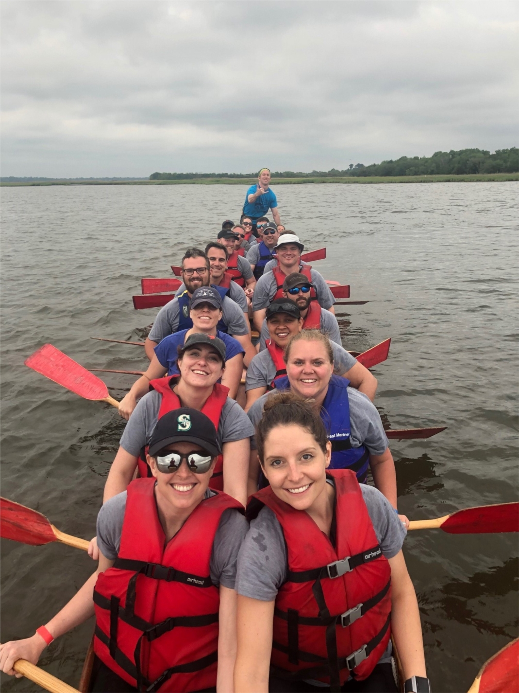 Associates in Charleston combine fitness, teambuilding and community service by participating in events like Dragon Boat Charleston, which supports cancer survivors.