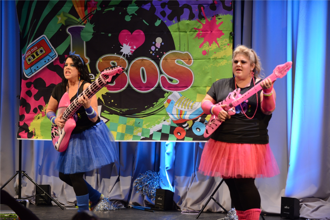 Associates provide the entertainment at Pinnacle's annual themed anniversary party -- like this Upstate group that performed a girl-band rock medley in the most recent Lip Sync Remix battle. It's epic.