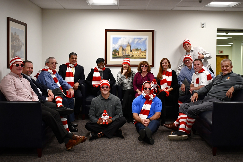 """Univest Financial's Senior Leadership Team was proud to participate in the Philadelphia Ronald McDonald House's """"Show Your Stripes"""" campaign to raise money in support of families with seriously ill children."""