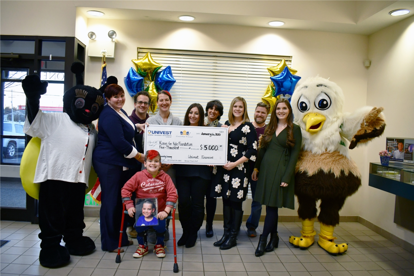 Each year, Univest hosts the Caring for Community Giveaway which asks people to nominate deserving nonprofits. The winner in 2019 was the Kisses for Kyle Foundation.