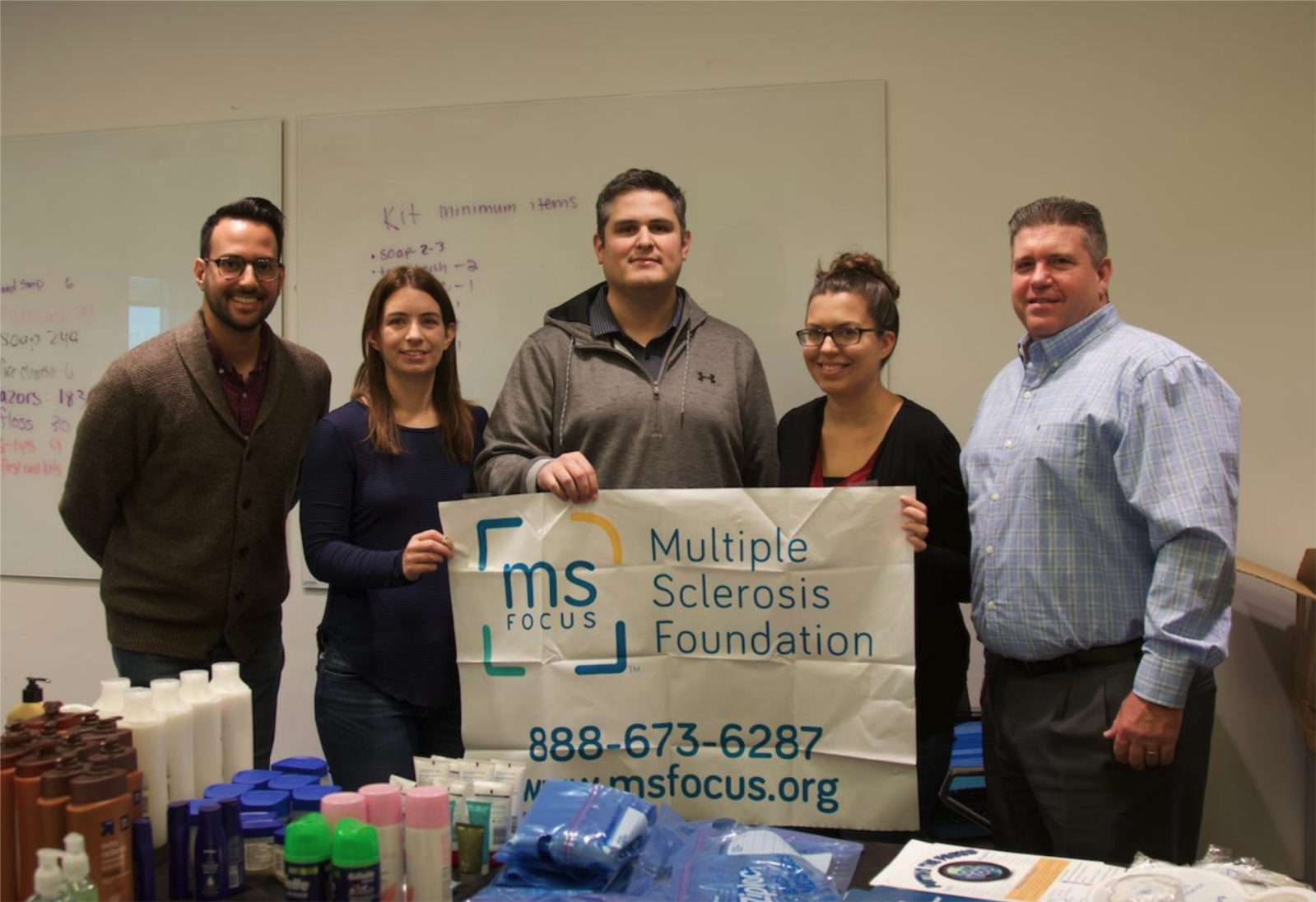 As part of Tenable's We Care in Action initiative, employees purchased and put together care packages to donate to the Multiple Sclerosis Foundation. Tenable selected the MS Foundation as our global charitable cause. Tenable also partners with several other local charities around their global offices.