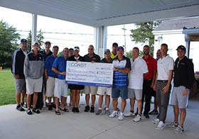 Photo taken at the Coast Cares' Education Open Golf Tournament. Over $40,000 was raised and donated to local school districts.