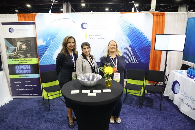 Team members at an event