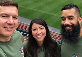 Three employees had a great day at Recruit Military's Career Fair!
