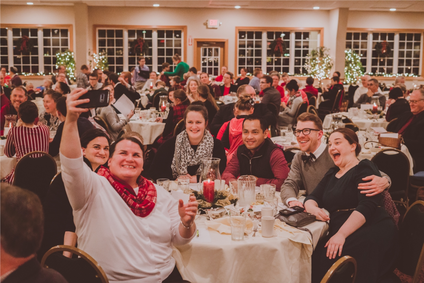 Employees celebrate at GBSC's annual Christmas dinner