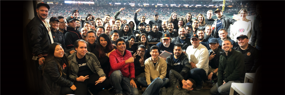 Team Frequence at our annual SF Giants day event.