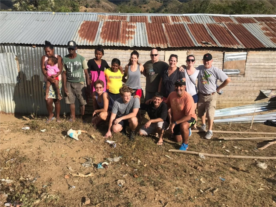 Macro employees giving back to community by volunteering with DC IT group of companies rebuilding homes in the Dominican Republic.