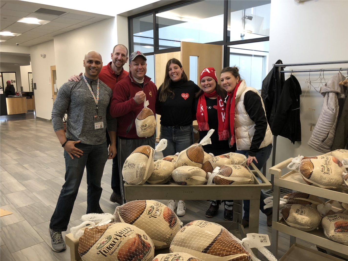 JACK team members delivering over 6,300 lbs of turkey to 13 area local food pantries ahead of the Thanksgiving holiday.