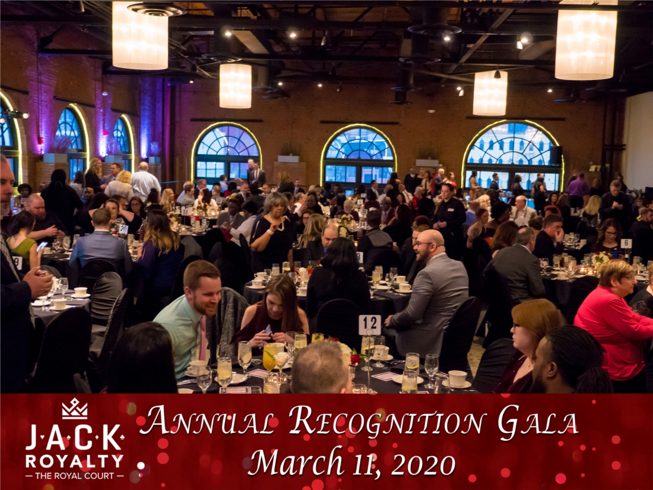 JACK Team Members celebrate at the annual JACK Royalty Gala recognizing top performing team members from the year.
