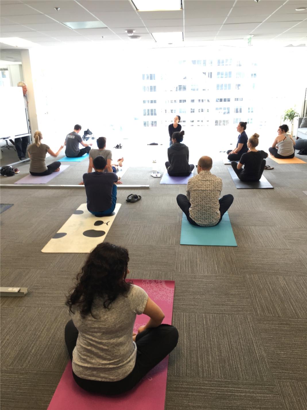 Sigma yoga class.