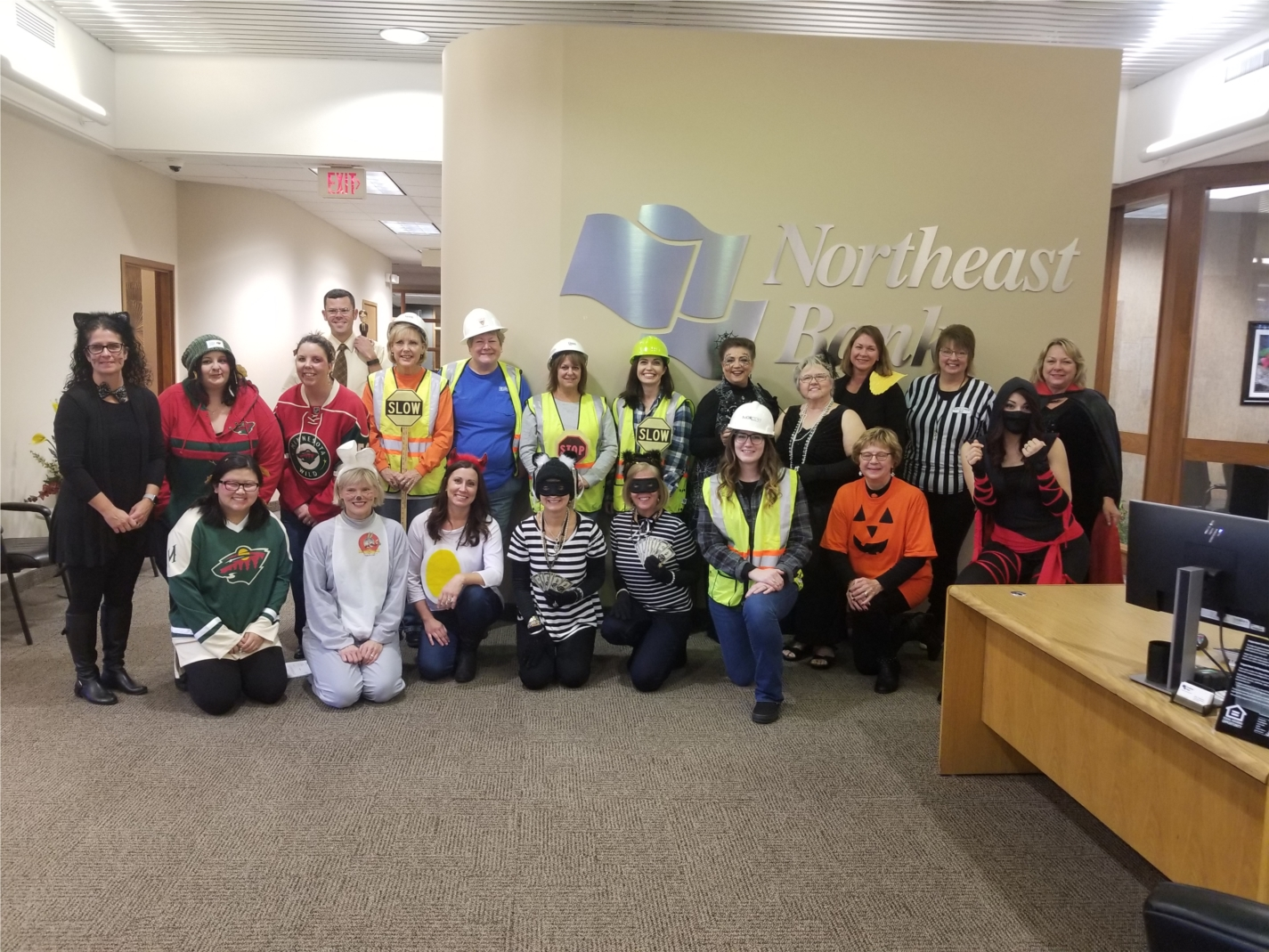 We love to have fun at work - here is our Minneapolis staff fully dressed up for Halloween!