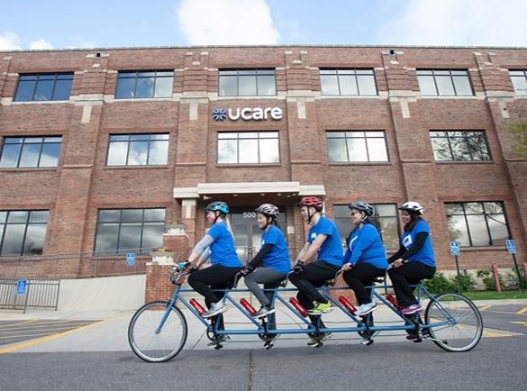 Bike team in front of UCare