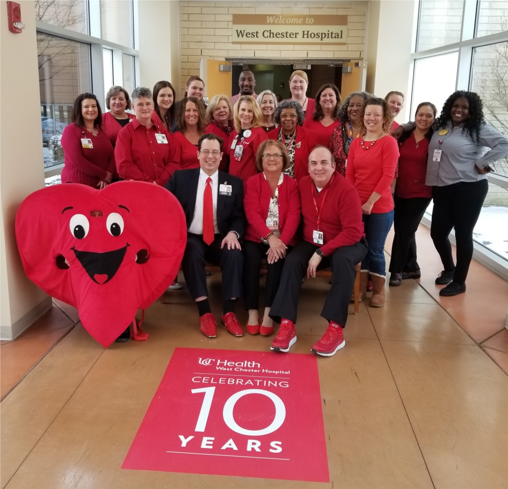 Each year during American Heart Month,  hospital employees look forward to showing their support for good heart health by wearing red on National Wear Red Day.