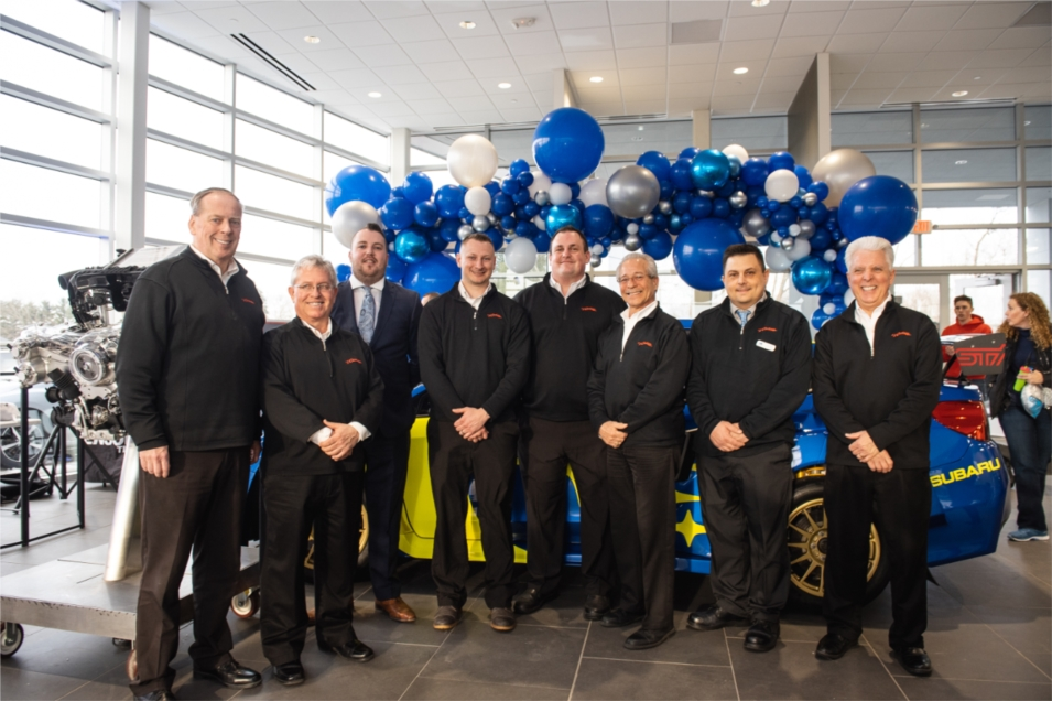 Butler County Subaru Grand Opening with the Sales Team.